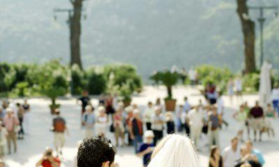 Brudepar på rejsen